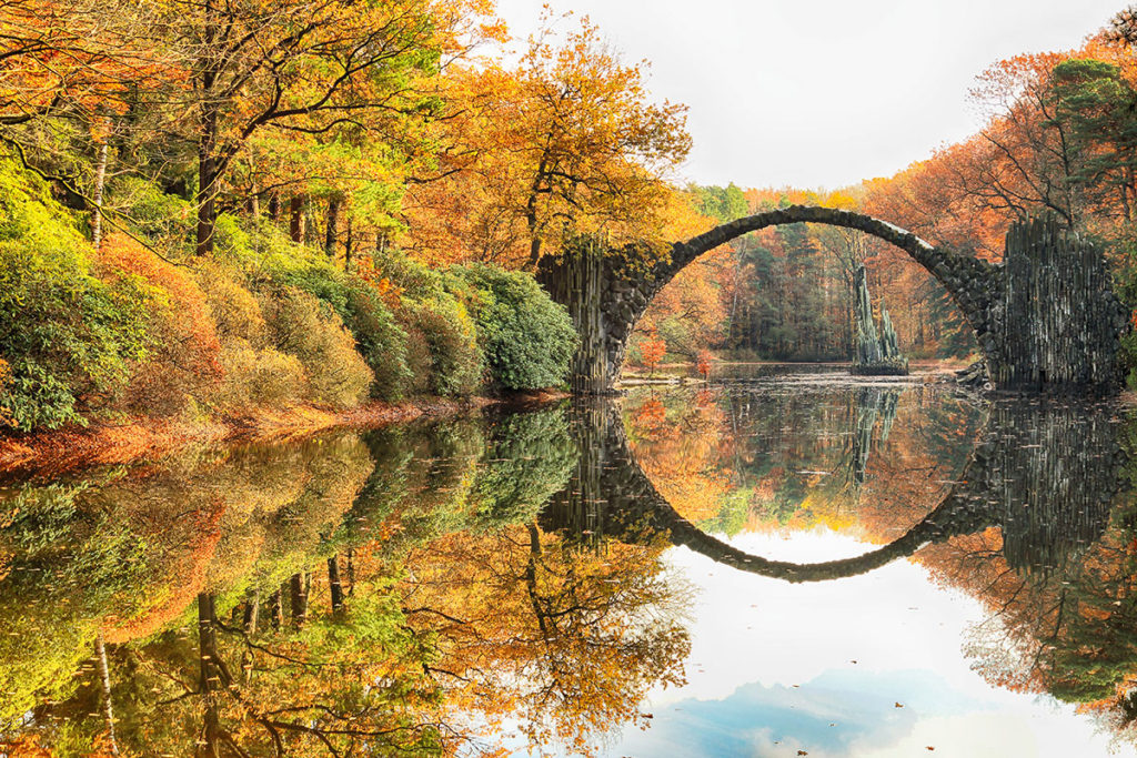 Rakotzbrucke or Devil's Bridge in Germany